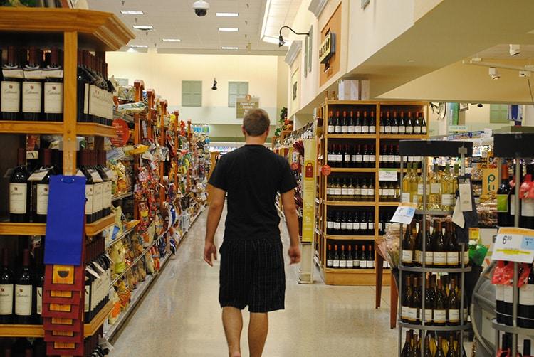 Vin vendu en supermarché